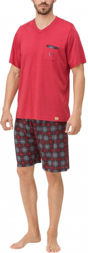 Pánské pyžamo 11650 - Vamp cihlová