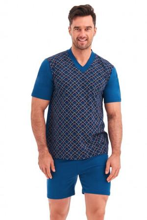 Pánské pyžamo Roman geometrický vzor  6XL