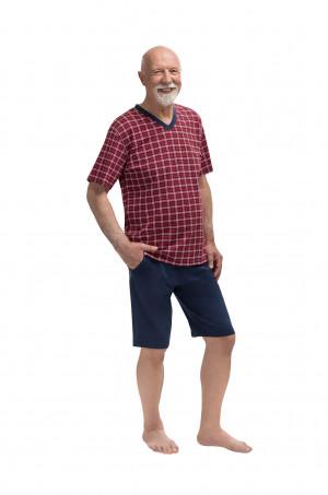 Pánské pyžamo 400 MICHAL - Martel červeno-modrá 3XL
