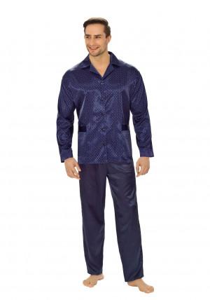 Pánské pyžamo Luna 750 M-XXL tmavě modrá