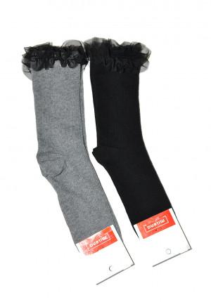 Dámské ponožky Milena Tylový volánek 1030 černá 37-41