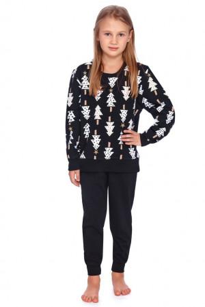 Dětské pyžamo Zuna černé se stromečky  110