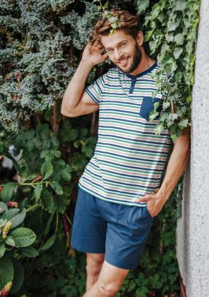Pánské pyžamo MNS 364 3XL-4XL A20 modrá 4XL