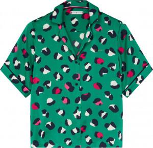 Dámské triko na spaní UW0UW02351-LD7 zelená - Calvin Klein zelená
