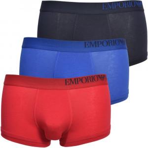 Boxerky 3pack 111357 0A713 33074 vícebarevná - Emporio Armani vícebarevná
