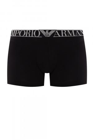 Boxerky 2pack 111769 0A720 23820 černá - Emporio Armani černá