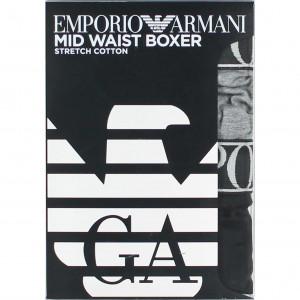 Boxerky 2pack 111912 0A720 08649 černo-šedá - Emporio Armani vícebarevná