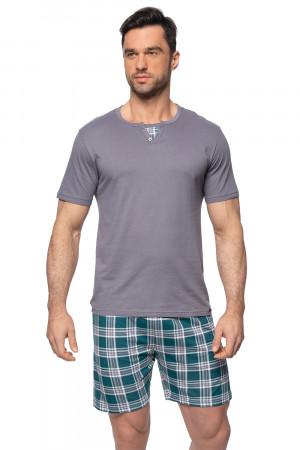 Pánské pyžamo SAM-PY-148 II - Rossli šedo-zelená