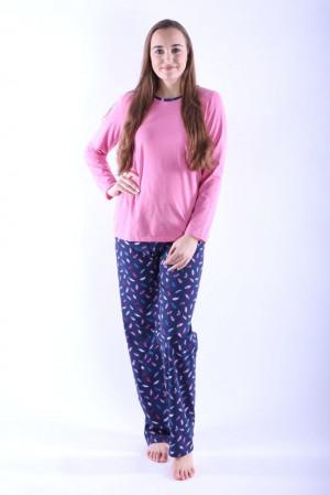 Dámské pyžamo Erika 1 růžové s peříčky růžová