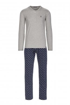 Pánské pyžamo 13655 - Vamp šedá-modrá