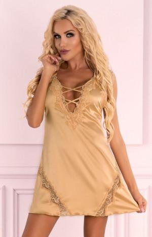 Zlatá košilka Landim gold - LivCo Corsetti S/M Zlatá