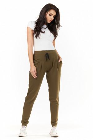 Dámské teplákové kalhoty M151 - Infinite You khaki S-36
