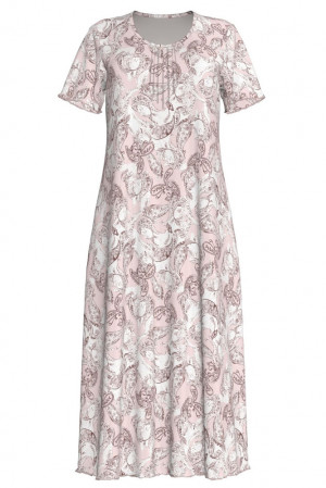 Vamp - Pohodlné pánské pyžamo KHAKI M 13674 - Vamp pink peach s