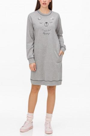 Vamp - Pánské pohodlné pyžamo BLUE OXFORD XXL 13626 - Vamp gray melange s