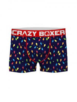 Pánské boxerky Xmas ASS 2 - Crazy Boxer tmavě modrá - vzor