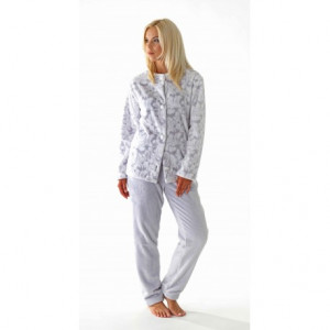 Dámské teplé pyžamo Flora 63569102 - Vestis šedo-bílá