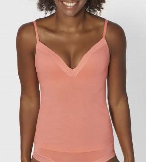 Dámská košilka sloggi Wow Embrace Bra Shirt01 - ORANGE - LIGHT COMBINATION - SLOGGI ORANGE - LIGHT COMBINATION - SLOGGI ORANGE - LIGHT COMBINATION