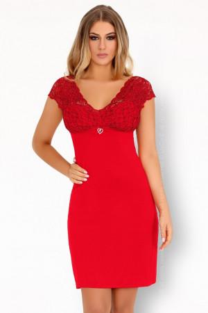 Vzrušující košilka Crossina red - LivCo Corsetti červená L/XL
