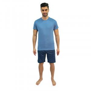 Pánské pyžamo Jockey modré nadrozměr (500001 454) 4XL