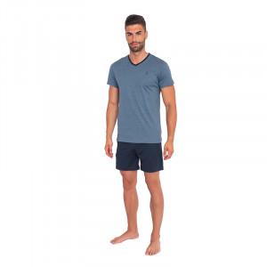 Pánské pyžamo Jockey modré nadrozměr (500013 499) 3XL