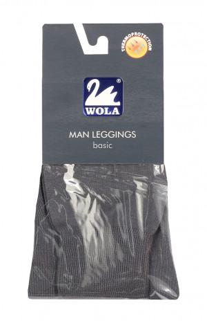 Pánské hladké bavlněné podvlékací kalhoty Man Leggings basic - Wola tmavě šedá 176-182