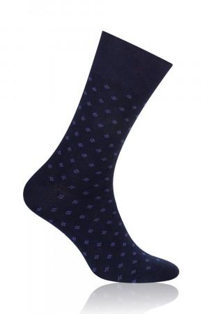 Pánské ponožky k obleku Steven 056-VIII tamvě modrát/jeans/fleky 45-47