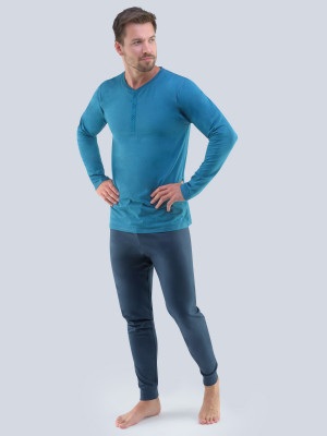 Pánské pyžamo 79087 - Gino petrolejová