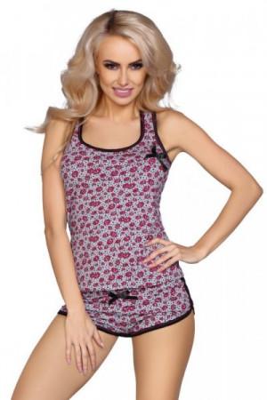 Cofashion Model 736/V Dámské pyžamo One size šedo-růžová