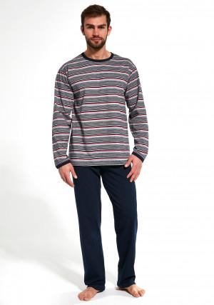 Pánské pyžamo Cornette 138 Various dł/r 3XL-5XL jeans 3XL
