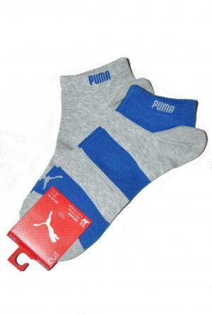 Pánské kotníkové ponožky 043 Sneaker - 2ks - PUMA šedo-modrá 39-42