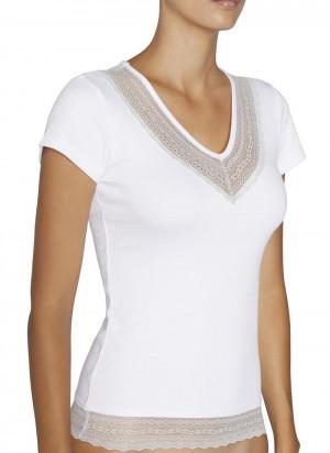 Dámské tričko s krátkým rukávem 19154 bílá - Ysabel Mora bílá