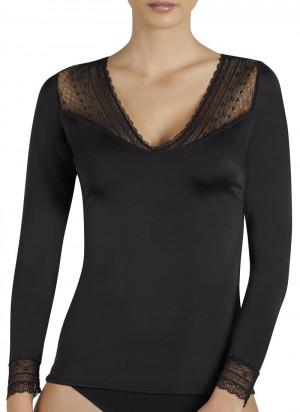 Dámské tričko s dlouhým rukávem 19149 černá - Ysabel Mora černá