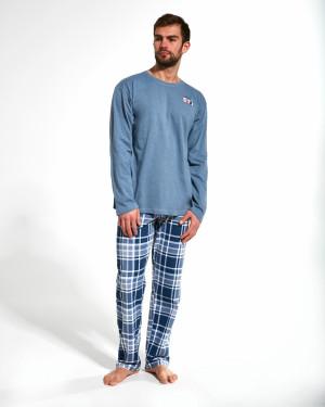 Pánské pyžamo 124/166 Route 66 - Cornette modrá - žíhaná