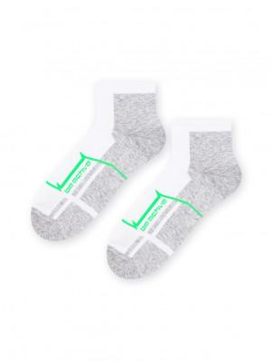 Pánské kotníkové ponožky Sport art.054 - Steven tm.šedá-sv.šedá 41/43