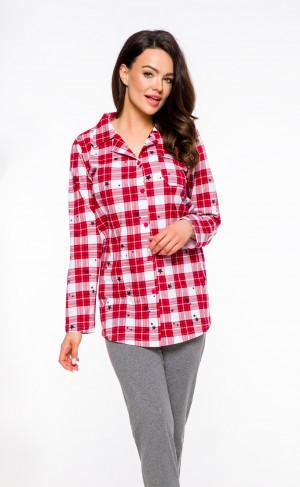 Dámské pyžamo Taro Dalia 2239 dl/r S-XL '20 červená-šedá