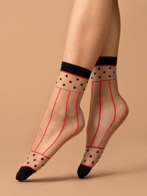 Dámské ponožky Fiore G 1091 Spicy 15 den pudrová-bílá univerzální