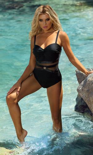 Jednodílné dámské plavky Self S 8030 SK černá