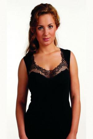 Černá dámská košilka Eldar Porta Plus černá