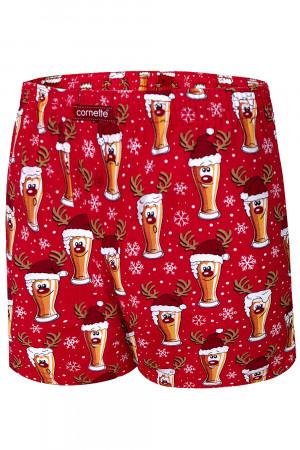 Pánské boxerky Cornette Merry Christmas Beer 5 016/13 červená m
