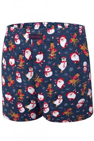 Pánské boxerky Cornette Merry Christmas Ho! Ho! 3 016/15 jeansová m