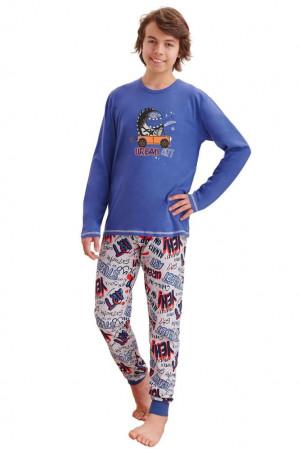 Chlapecké pyžamo Miloš tmavě modré modrá 152