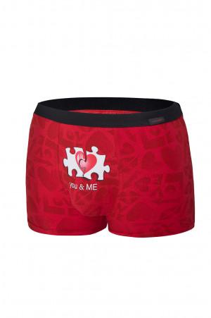 Pánské boxerky Cornette 010/68 You & Me Valentýnské červená
