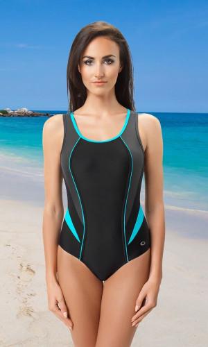 Jednodílné sportovní plavky Ivana III černá