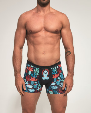 Pánské boxerky Cornette Tattoo 280/184 Cactus tyrkysová