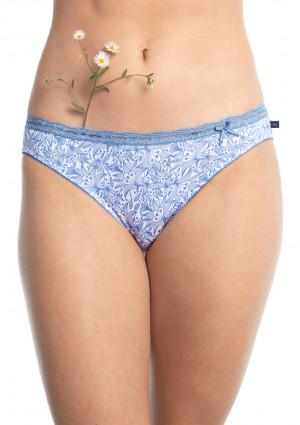Dámské kalhotky Key LPR 998 A20 A'2 bílá-modrá