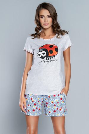 Dámské pyžamo Italian Fashion Mila světlá žíhaná 3xl
