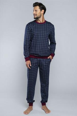 Pánské pyžamo Italian Fashion Blažej tmavomodrá m