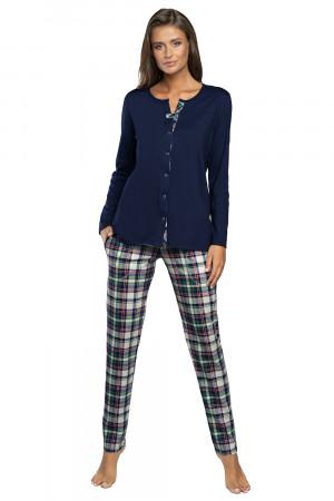 Těhotenské/kojící pyžamo Italian Fashion Morena tm.modrá/potisk xl