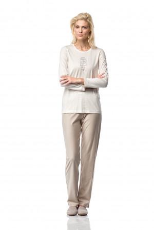 Dámské pyžamo 00-10-7185 - Vamp krémová