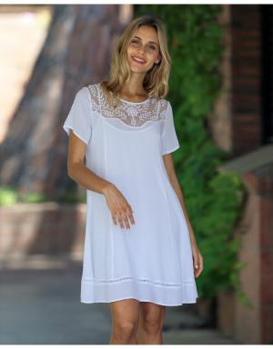 Dámské plážové šaty - L207424 - Masana bílá